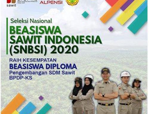 Seleksi Nasional Beasiswa Sawit Indonesia (SNBSI 2020)